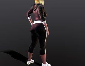 realistic hot gym Girl 3D model
