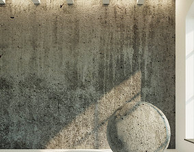 3D Concrete wall Old concrete 34