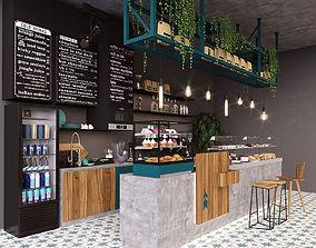 3D model buns Coffee bar