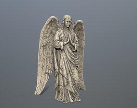 3D asset Angel Statue 04