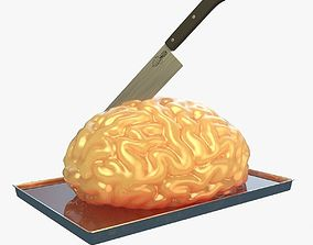 3D model Cake brain party