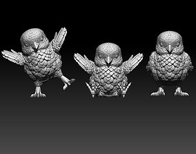 chick 3D printable model animals