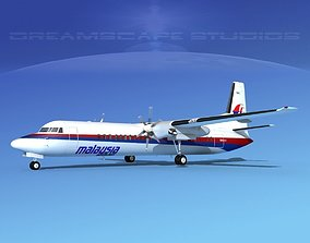 3D Fokker F-60 Malaysia