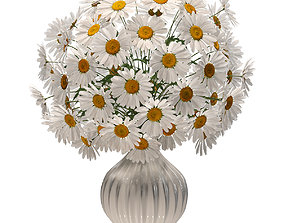 Daisies in a vase v2 3D