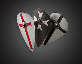 aaa 3D model low-poly Shield - MVL - PBR Game Ready