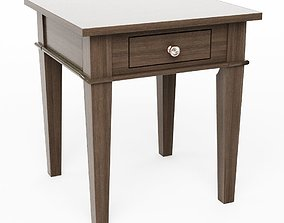 Simpli Home Carlton Farmhouse Grey Storage End Table 3D