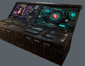 3D model Scifi Modular Screen -Medical Computer
