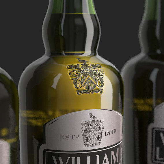 William Lawson's whiskey bottles set