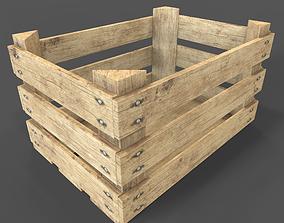 3D asset Wooden Fruit Crate
