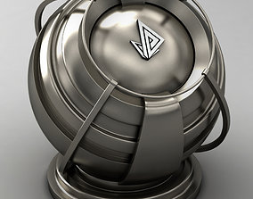 VRAY SHADER---METAL---Tin-alloyed Cast Iron 3D model