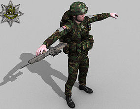 3D rigged British Royal Anglian Ultimate Soldier