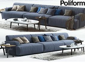 Soho sofa MAD COFFEE TABLE POLIFORM 3D