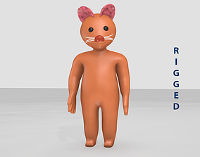 Cartoon Cat - Rigged kitty 3D model