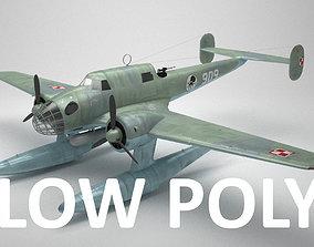 RWD-22 torpedo bomber Low Poly 3D model