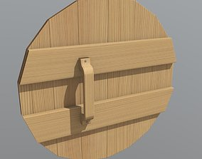 3D asset VR / AR ready Wooden Shield
