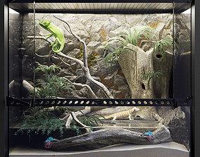 A set of terrariums bonus Blue Island Viper 3D model
