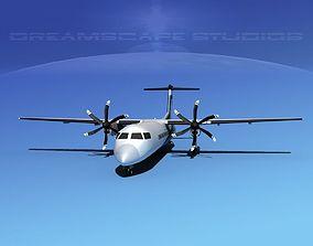 3D model Dehaviland DHC-8 400 Dakota Air