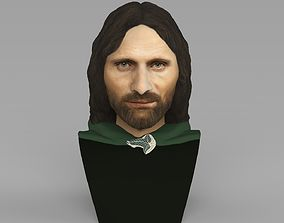 Aragorn bust Lord of the Rings ready for full color 3D