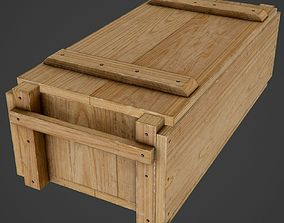 3D model Wooden Ammo Box - PBR Game-Ready