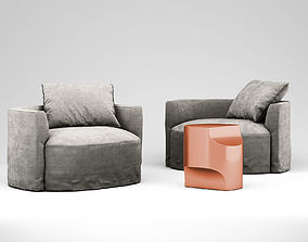 Christophe Delcourt Nos armchair and Ope side 3D model