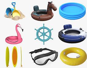 3D model Outdoor beach swimming equipment vol1