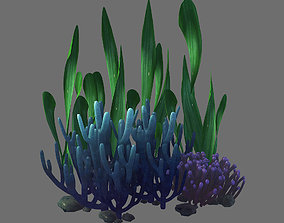 Game Model - Seabed - Coral Cluster maple
