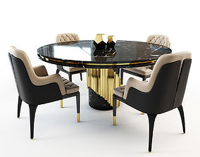 charla Charla chair and Littus table 3D model