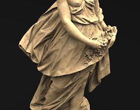 Flore Sculpture 3D model carved