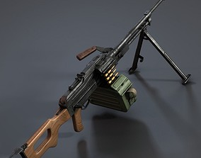 PKM Machine Gun 3D weapons