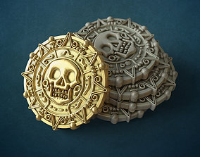 3D print model printable Pirate coin