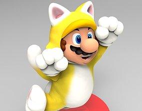 Cat Mario Custom Amiibo 3D print model