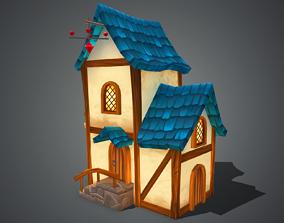 3D asset VR / AR ready Fantasy House