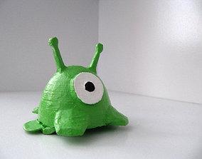 Brain Slug Hair Clip 3D print model
