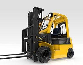 Forklift Animated 3D model forklift