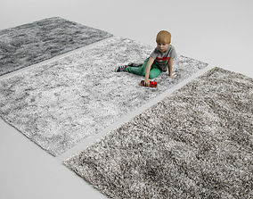 fluffy rug carpet 3D model