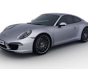 Realistic Car Porsche 911 Carrera Rigged 3D model 2