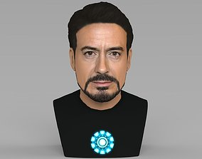 Tony Stark Downey Jr Iron Man bust full color 3D 1