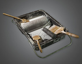 Paint Brushes TLS - PBR Game Ready 3D model