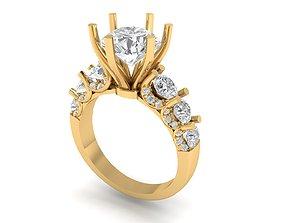 Big diamond engagement ring 3D printable model