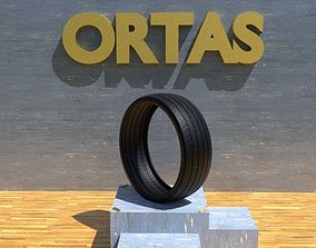 ORTAS TIRE NO 12 GAME READY AND 3D PRINTABLE car-tire