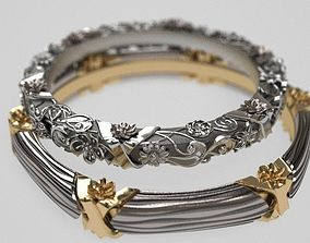 Floral circlet wedding band - original 3D printable model