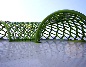 3D Half circle structure with open ends modern structure