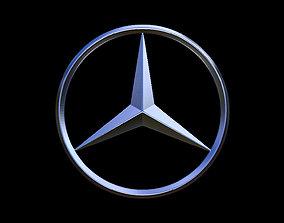 Mercedes Benz Car Logo 3D