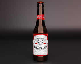 3D model Budweiser Bottle