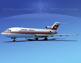 3D model Boeing 727-100 Trans World 2