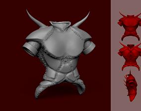 Tibia Demon Armor - KeyChain Miniature 3D printable model