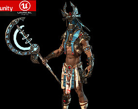 anubis warrior 3D model animated
