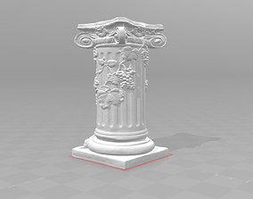 3D printable model Ancient column pillar vines grapes 1