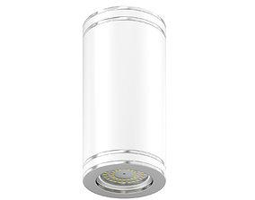 Metal Cylindrical Light 3D Model lightbulb