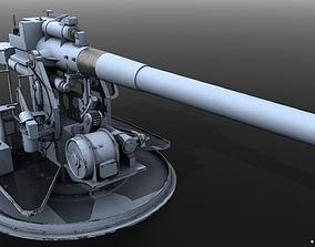 3D model QF 120mm Mk VIII naval gun